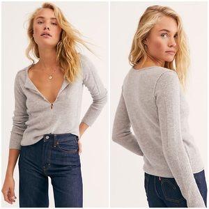 Free People Liquid Sugar Cashmere Henley Sweater